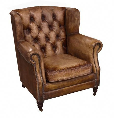 Florence Arm Chair Buffalo Leather Big Comfy Chair Armchair