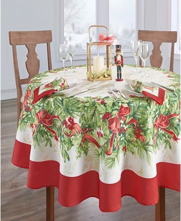 Elrene Holly Traditions Collection Reviews Table Linens