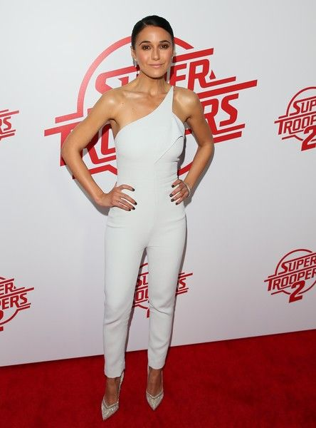 Emmanuelle Chriqui attends the premiere of Fox Searchlight Pictures' 'Super Troopers 2.'