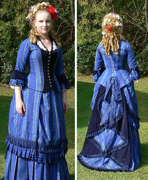 4058cbca8eb73 Blue dress inspired by the Australian costume from Phantom of the Opera