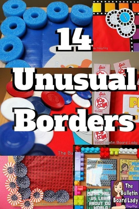 14 Unusual and Incredibly Fabulous Bulletin Board Borders 14 Unusual Bulletin Board Boarders Pool noodles, cupcake papers, LEGOS? These unusual and incredibly fabulous border ideas are easy to do. WARNING: Using these in a hallway may cause major student Boarders For Bulletin Boards, Preschool Bulletin Boards, Bulletin Board Display, Classroom Bulletin Boards, Classroom Projects, Classroom Door, Classroom Displays, Library Displays, Classroom Ideas