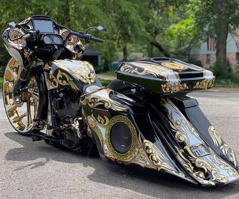 Motorcycle Paint Jobs, Bagger Motorcycle, Motorcycle Style, Harley Davidson Trike, Harley Davidson Touring, Custom Baggers, Custom Harleys, Custom Street Bikes, Custom Bikes