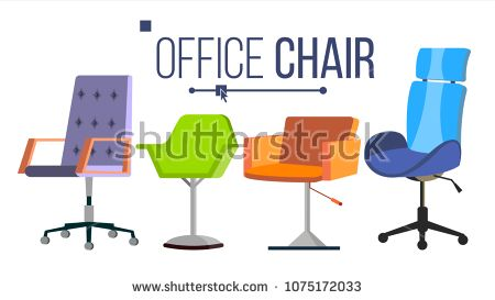 Furniture Chairs Vector Home Office Objects Design Interior