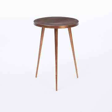 Cast Tripod Side Table Copper