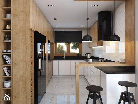 Kuchnia 9m2 Duza Otwarta Waska Kuchnia W Ksztalcie Litery G Z Oknem Styl Nowoczesny Zdjeci Modern Kitchen Design Kitchen Design Small Kitchen Decor Modern
