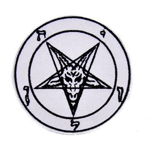 Sabbatic Goat Head Patch Iron on Applique Alternative Clothing Baphomet Satan