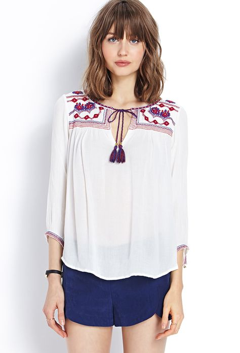 234bbf0d53f916 peasant tops forever 21 - Google Search