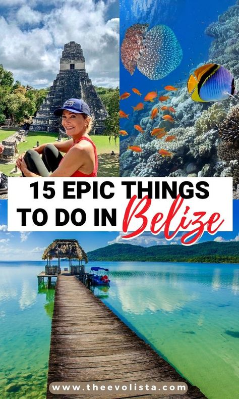 15 Epic Things To Do on Your Belize Vacation - Travel interests Belize Destinations, Belize Vacations, Belize Travel, San Ignacio Belize, San Pedro Belize, Cool Places To Visit, Places To Travel, Belize Islands, Living In Belize