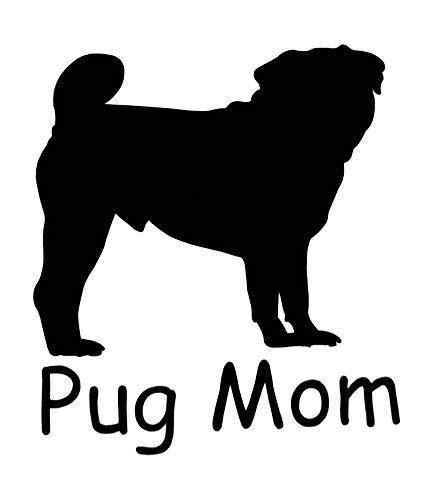 WickedGoodz Pitbull Mom Vinyl Decal Pit Bull Bumper Sticker Perfect Dog Owner Gift