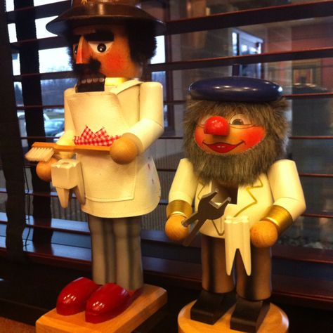 Cute nutcrackers at my dentist's office