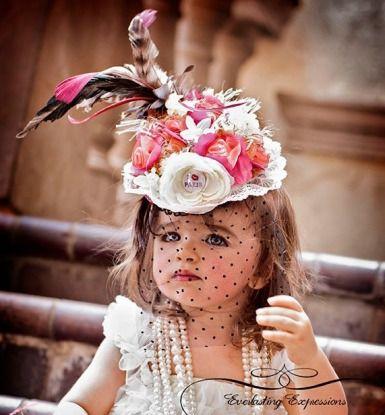 214f1c29d2371 High Tea Feather Mini Top Hat-inspiration | Hats | Tea hats, Girls tea party,  Tea party hats