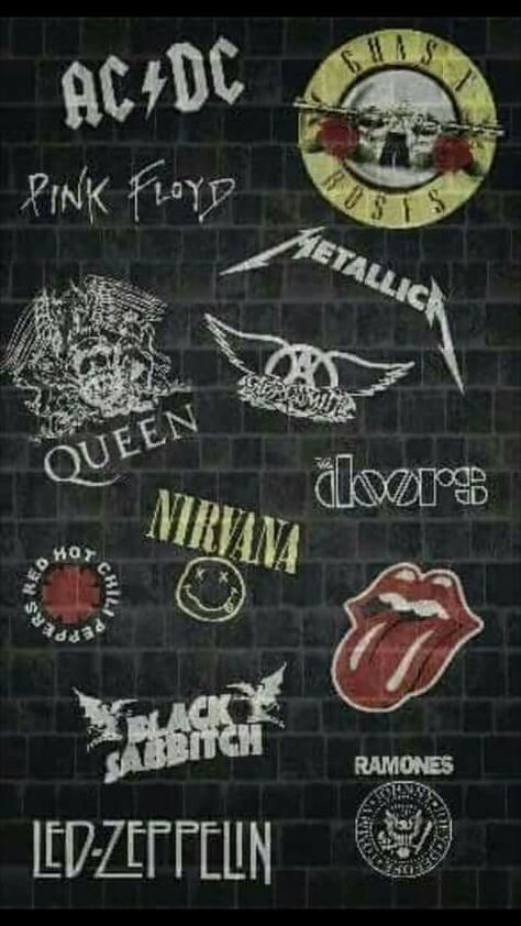 Rock clásico, clasic rock,  Metallica, Guns and roses, ac/dc, red hot chili peppers, Nirvana, the doors, the rolling Stones, etc