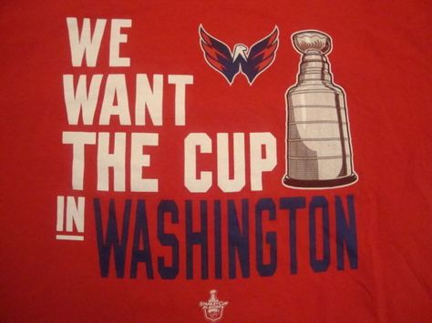 Nhl Washington Capitals #Hockey 'we Want The Cup' Fan Playoffs Red T