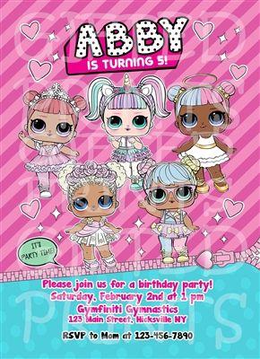 LOL Surprise Dolls Birthday Invitation in 2019 | Birthday