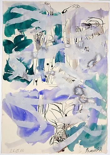 Georg Baselitz Artists Skarstedt Gallery Artist Contemporary Watercolor Painting Drawing