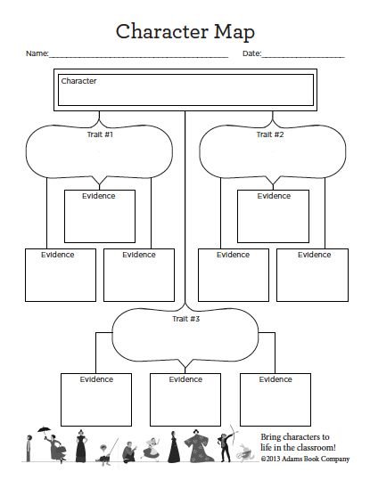 Character Map #printable #worksheet for analyzing characters ...