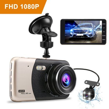 """Dash Cam Recorder 3"""" for Cars WiFi Dual Lens Full HD 1080P Front and Rear 170°"""