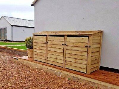 Wooden Wheelie Bin Store Outdoor Garden Dustbin Waste Cupboard Shed In 2020 Bin Store Outdoor Wooden Garden Storage