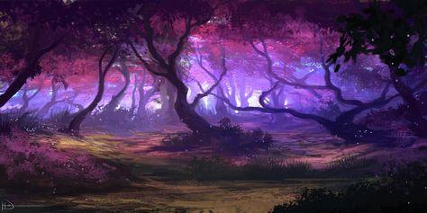 Purple Forest by Ninjatic on DeviantArt