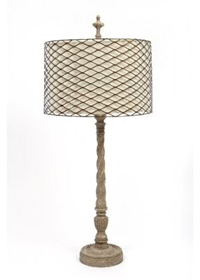 Gallery Designs Lighting Metal Shade With Linen Interior