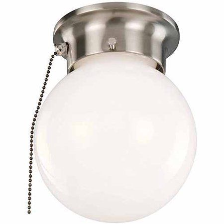 Design House 519272 1 Light Ceiling Mount Globe Light With Pull
