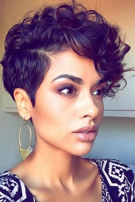 Short Hairstyles For Young Black Woman Thick Hair Styles Curly