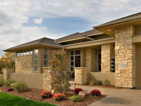 prairie style house plans | Prairie Style Floor Plan Front of Home - 013S-0011 | House Plans and ...