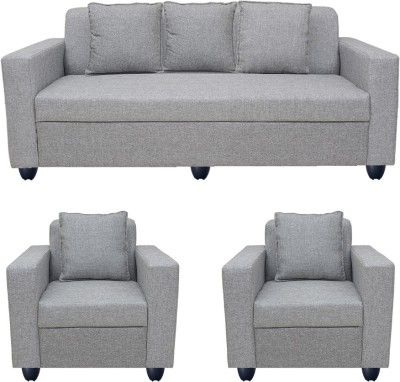Bharat Lifestyle Lexus Fabric 3 1 1 Light Grey Sofa Set Configuration Straight Buy Sofa Sofa Furniture Furniture