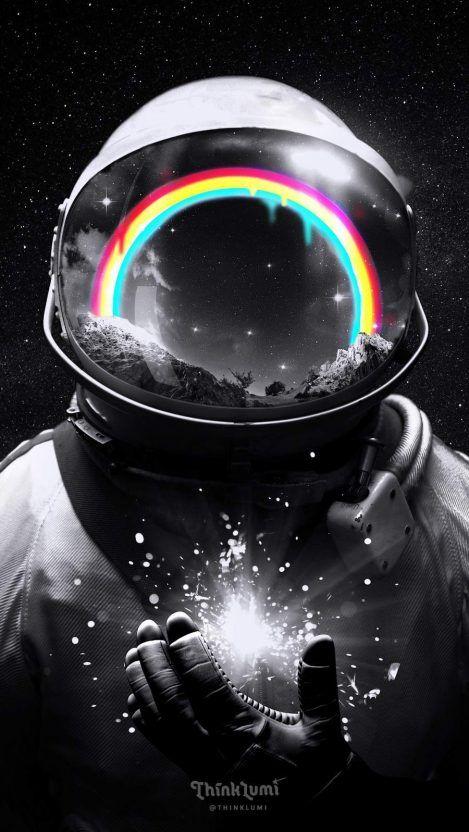 Cosmic Hope Iphone Wallpaper Iphone Wallpapers Astronaut Wallpaper Astronaut Art Space Artwork