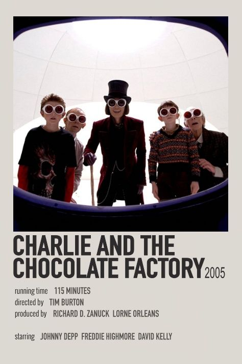 Charlie and the chocolate factory polaroid movie poster