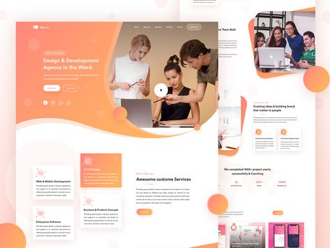 Startup Agency   Agency Landing page