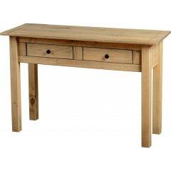 Birlea Corona 3 Drawer Console Table Desk Mexican Solid Pine