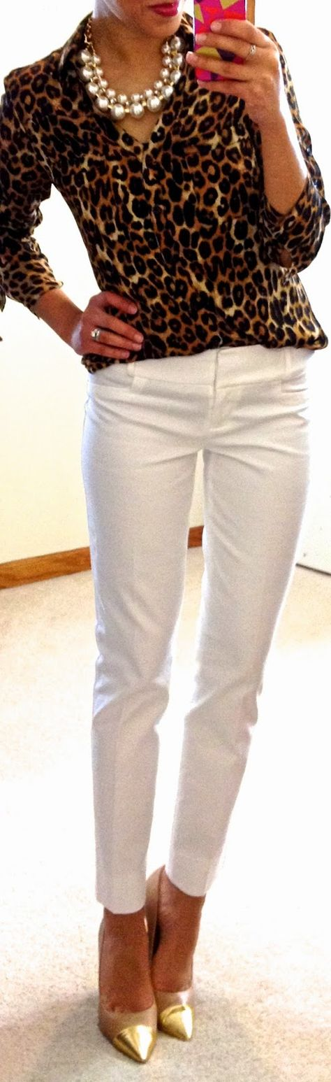 White after Labor day.....Cute casual outfit (except the gold shoes)