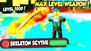UNLOCKING THE LEVEL 1000 WEAPON IN SLAYING SIMULATOR!! *BEST
