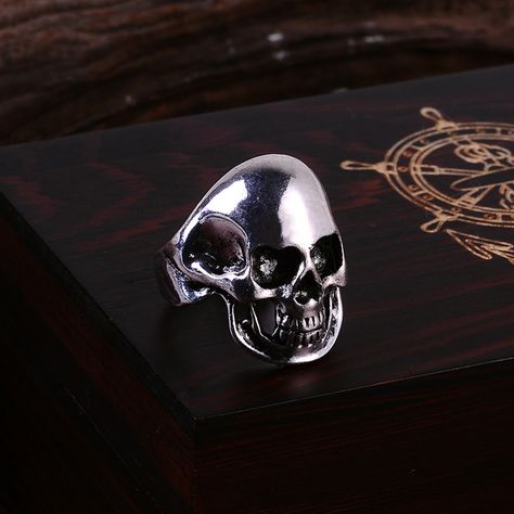 >> Click to Buy << Lovely Bald Skull Silver Finger Rings Vintage and Personality Jewelry Rings 2017 NEW Statement Jewelry #Affiliate