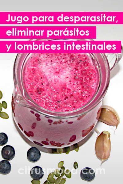 matar parásitos en sus intestinos