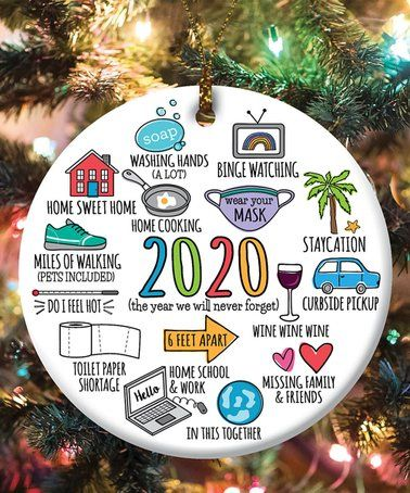 Look What I Found On Zulily White 2020 Memories Round Ceramic Ornament Zulilyfinds In 2020 Ceramic Ornaments Christmas Crafts For Gifts Baby Feet Crafts
