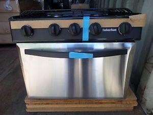 New 17 Suburban Rv 3 Burner Lp Gas Stove Oven Range Camper Srna3sbse Piezo