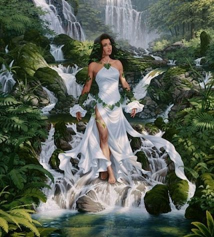 The Gaelic Goddess of the Hunt, Abnoba, is honored here. She is revered as the Celtic Goddess of the Black Forest itself as well as the Goddess of Abnoba Mountain located within the Black Forest. Celtic Goddess, Celtic Mythology, Earth Goddess, Goddess Art, Goddess Of Nature, Fantasy Women, Fantasy Art, Inspiration Artistique, Sacred Feminine
