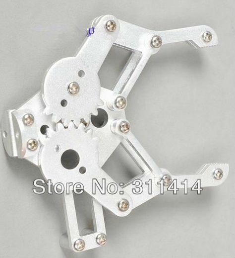 Silver Aluminum Alloy Mechanical Arm Paw Robot Accessories for Arduino