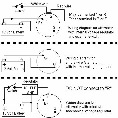 cc7eb4379a56b2cddaa0d37739015fd0 wiring diagram for 3 wire alternator efcaviation com ford 3 wire alternator wiring diagram at reclaimingppi.co