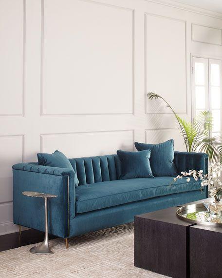 Haute House Baxter Sofa 94 In 2020 Velvet Sofa Living Room Baxter Sofa Living Room Sofa Design
