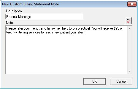 Custom Billing Statement Notes Billing \ Accounts Receivable - billing statement