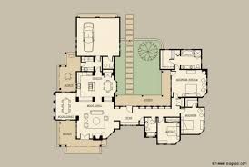 Image Result For Mexican Villa Floor Plans Mediterranean House Plans Courtyard House Plans U Shaped House Plans