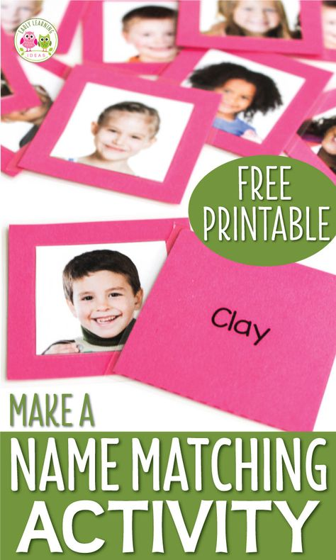 How to Make Name Activities with Free Printable Name Cards