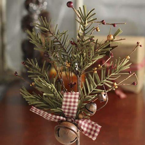 Rustic Winter Artificial Evergreen Pine Pick