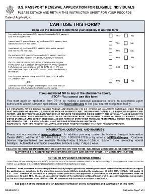 ds 82 fillable   passport Renewal Form   Pinterest   Passport ...