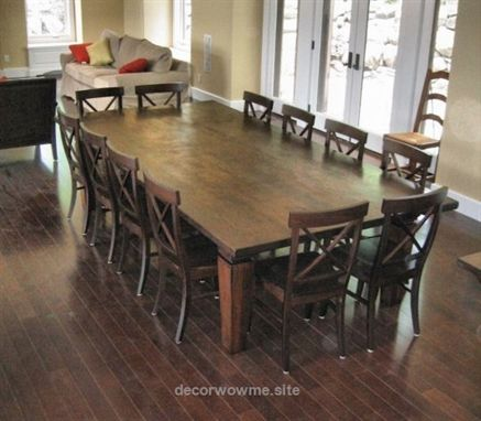 Cool Beautiful Large Dining Room Table Seats 12 24 For Home