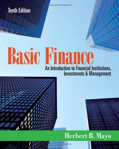 Basic Finance 10th Edition Mayo Testbankster Student Test