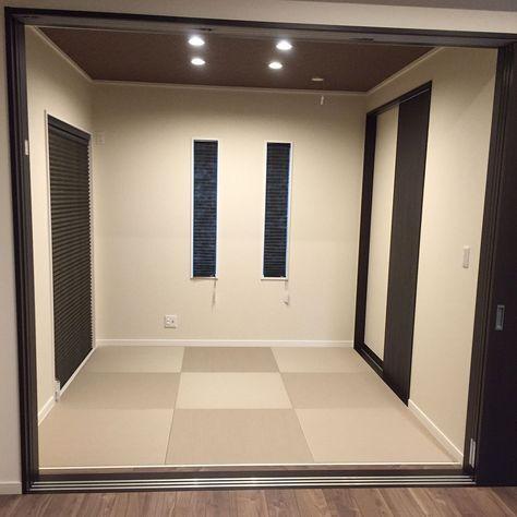 壁 天井 和室 モダン シンプルモダン 琉球畳 などのインテリア実例